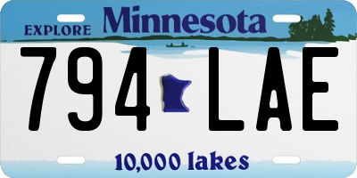 MN license plate 794LAE
