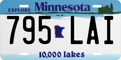 MN license plate 795LAI