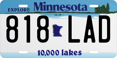 MN license plate 818LAD