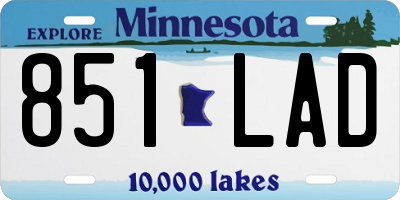 MN license plate 851LAD
