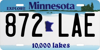 MN license plate 872LAE