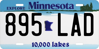 MN license plate 895LAD