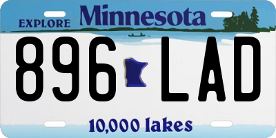MN license plate 896LAD