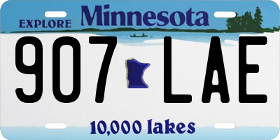 MN license plate 907LAE