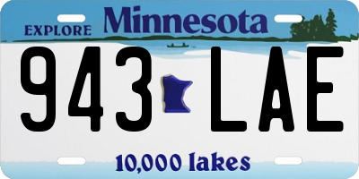 MN license plate 943LAE