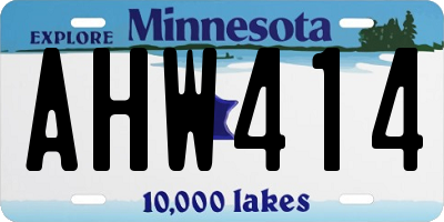 MN license plate AHW414
