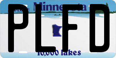 MN license plate PLFD