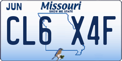 MO license plate CL6X4F