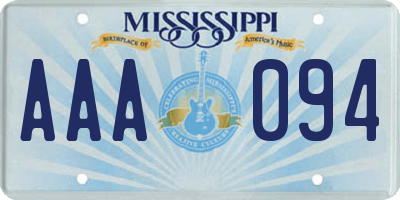 MS license plate AAA094