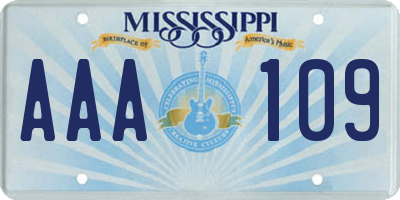 MS license plate AAA109