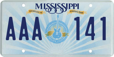 MS license plate AAA141