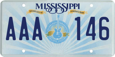 MS license plate AAA146