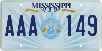 MS license plate AAA149