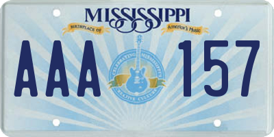MS license plate AAA157