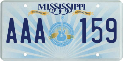 MS license plate AAA159