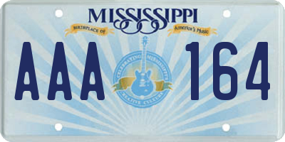 MS license plate AAA164