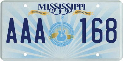 MS license plate AAA168