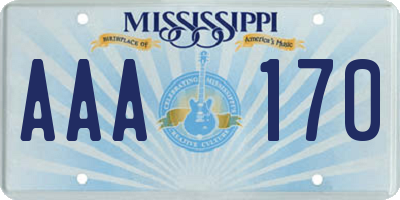 MS license plate AAA170