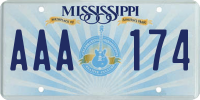 MS license plate AAA174