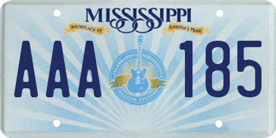 MS license plate AAA185