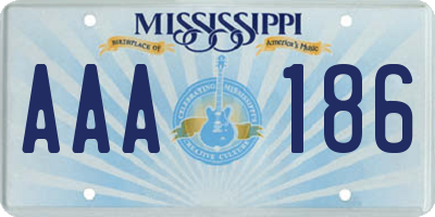 MS license plate AAA186