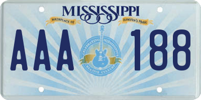 MS license plate AAA188