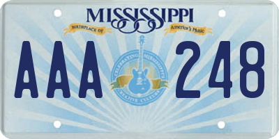 MS license plate AAA248
