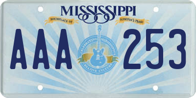 MS license plate AAA253