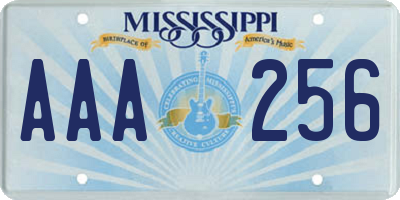 MS license plate AAA256