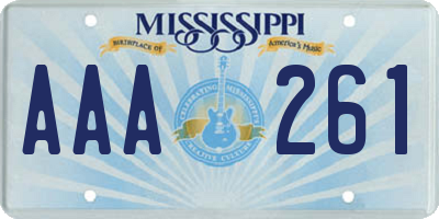 MS license plate AAA261