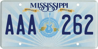 MS license plate AAA262