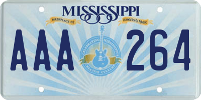 MS license plate AAA264