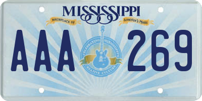 MS license plate AAA269