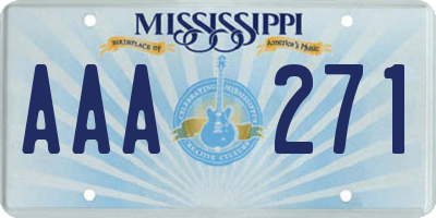 MS license plate AAA271