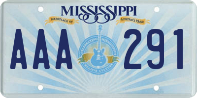 MS license plate AAA291