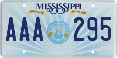 MS license plate AAA295