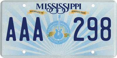 MS license plate AAA298