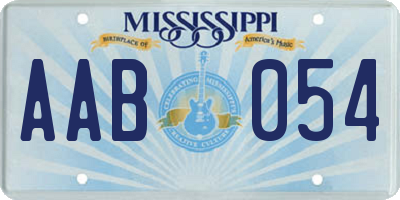 MS license plate AAB054