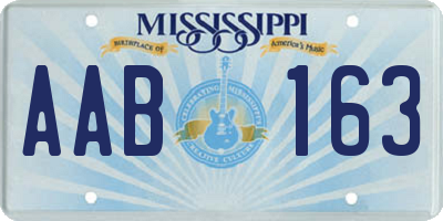 MS license plate AAB163