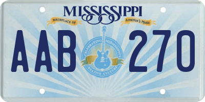MS license plate AAB270