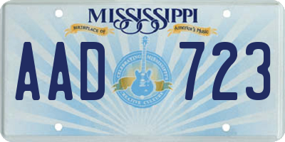 MS license plate AAD723