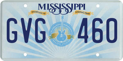 MS license plate GVG460