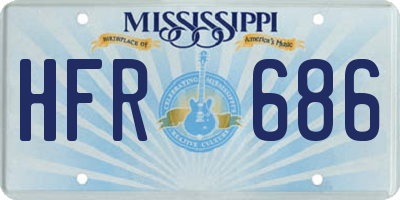 MS license plate HFR686