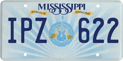 MS license plate IPZ622