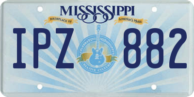MS license plate IPZ882