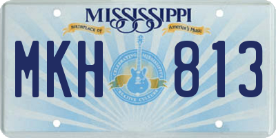 MS license plate MKH813