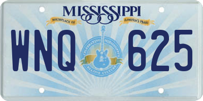 MS license plate WNQ625