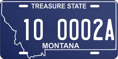 MT license plate 100002A