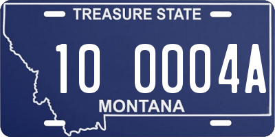 MT license plate 100004A