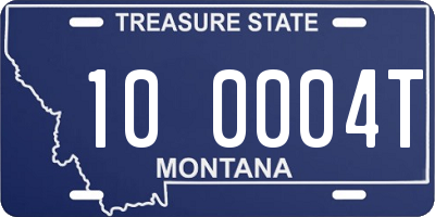 MT license plate 100004T